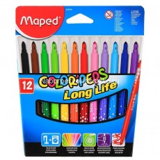 "Фломастеры Maped, ""Color'Peps"", Long Life,  12 цв., карт. упаковка"