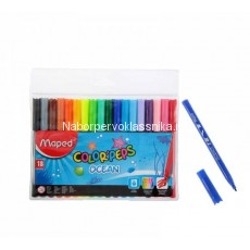 "Фломастеры Maped, ""Color'Peps"", Ocean, 18 цв., пласт. упаковка"
